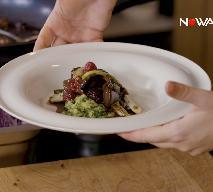 Wątróbka z owocami, dymką i jarmużowymi ziemniakami z kurkumą - przepis z programu Smaki Agaty