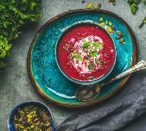 Zupa buraków z czerwoną fasolą a la Anna Lewandowska