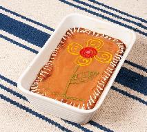 Mazurek z dżemem morelowym - bardzo łatwe i tanie ciasto na Wielkanoc